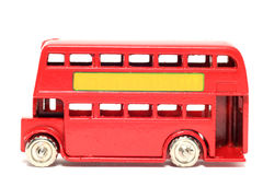 Alter Spielzeugauto London-Bus Lizenzfreies Stockfoto
