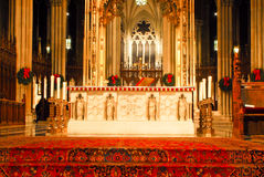 Alter at St. Patrick's Cathedral, Manhattan, NYC Stock Photos