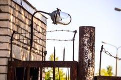 Alter Stacheldraht, Gefängnis Stockfotografie