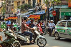 Alter Stadtverkehr Hanois Stockfoto