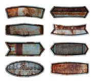 Alter Stahlmetallschildplatten-Beschaffenheitshintergrund Lizenzfreie Stockfotos