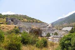 Alter Standort Ephesus, die Türkei Stockfotos
