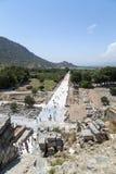 Alter Standort Ephesus, die Türkei Stockbild