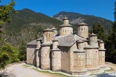 Alter Stein machte Kirche in Griechenland stockfotografie
