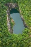 Alter Steinbruchsee Stockbild