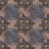 Alter Steinfußboden-nahtloses Muster Stockfotografie