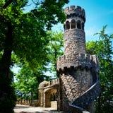 Alter Steinkontrollturm Stockbilder