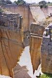 Alter Steinsteinbruch in Menorca, Lithica lizenzfreie stockbilder
