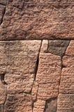 Alter Steinwand-Aufschrifthintergrund in Hatadage, alte Stadt von Polonnaruwa, Sri Lanka. UNESCO-Welterbsite. Stockfoto