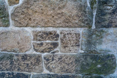 Alter Steinwand-Rückseiten-Boden Lizenzfreie Stockfotos