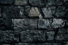 Alter Steinwandhintergrund, Backsteinmauerschmutz-Beschaffenheitsabschluß oben Lizenzfreies Stockfoto