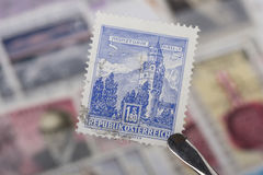 Alter Stempel von Österreich Stockbild