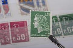 Alter Stempel von Frankreich Stockfotografie