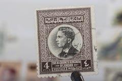Alter Stempel von Jordanien Lizenzfreies Stockfoto
