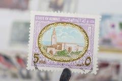 Alter Stempel von Kuwait Stockfoto