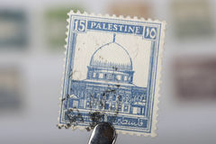 Alter Stempel von Palästina Lizenzfreies Stockfoto