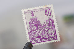 Alter Stempel von Republik Stockbild