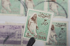 Alter Stempel von Sudan Stockfotos