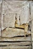 Alter Stoff auf Holz Stockfotografie