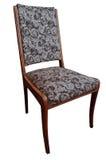 Alter Stuhl lokalisiert auf weißem Hintergrund Stockfotografie