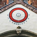 Alter Sundial Utrecht - Holland foto Lizenzfreie Stockbilder