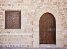 Alter Tür-Hintergrund Stockfotos