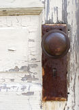 Alter Tür-Knopf Stockfotografie