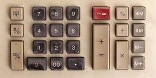 Altmodischer rechner auf schreibtisch mit papier stockfoto for Design tisch taschenrechner