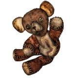 Alter Teddybär mit Knopfaugen stockfoto