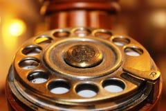 Alter Telefonvorwahlknopf Lizenzfreie Stockfotos