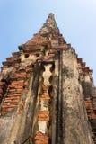 Alter Tempel in Ayudthaya Stockbilder