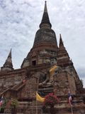 Alter Tempel Ayutthaya in Thailand stockfotos