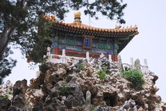 Alter Tempel des Kaisers in der Verbotenen Stadt Stockfotografie