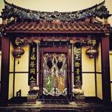 Alter Tempel des traditionellen Chinesen Stockbild