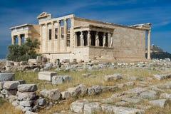 Alter Tempel Erechtheion in der Akropolise Athen Gre Lizenzfreie Stockfotos