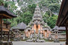 Alter Tempel im Ubud-Affe-Wald, Bali-Insel Lizenzfreies Stockbild
