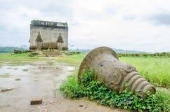 Alter Tempel Muang Badan (Unterwasser) Lizenzfreies Stockbild