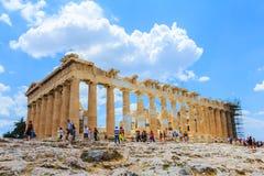Alter Tempel Parthenon auf Akropolise Stockfoto