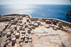 Alter Tempel von Apollo bei Lindos Lizenzfreie Stockfotografie