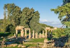 Alter Tempel von Artemis Vravronia Stockfoto