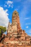 Alter Tempel von Ayuthaya Stockfotografie