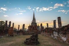 Alter Tempel von Ayuthaya Lizenzfreie Stockfotos