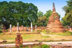 Alter Tempel von Ayuthaya, Thailand Lizenzfreie Stockfotografie