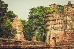 Alter Tempel von Ayuthaya, Thailand Stockfotos