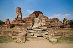 Alter Tempel von Ayuthaya, Wat-mahathat Lizenzfreie Stockbilder