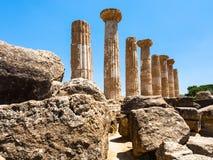 Alter Tempel von Heracles Tempio di Eracle lizenzfreies stockfoto