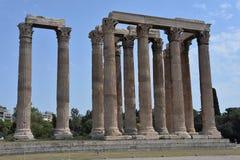 Alter Tempel von olympischem Zeus in Athen Lizenzfreies Stockfoto
