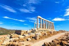 Alter Tempel von Poseidon Lizenzfreies Stockbild