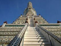 Alter Tempel Wat Aruns in Bangkok Thailand Stockfoto