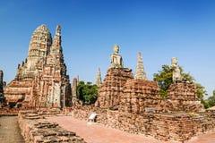 Alter Tempel, Wat Chaiwatthanaram Temple von Ayuthaya-Provinz Stockfoto